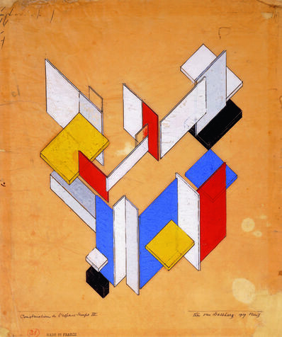 Theo Van Doesburg, 'The construction of space-time III', 1924