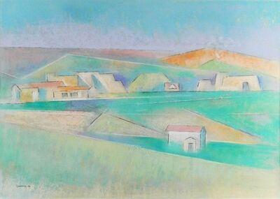 Andrew Dasburg, 'Ranchos Looking North', 1974