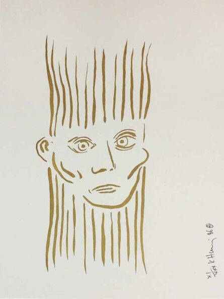 Keith Haring, 'Portrait of Joseph Beuys (Deluxe Edition)', 1986