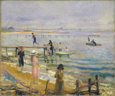 William James Glackens, 'Jetties at Bellport', ca. 1916