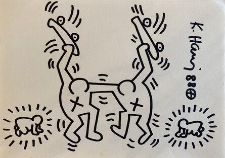 Keith Haring, 'Skateman', 1988