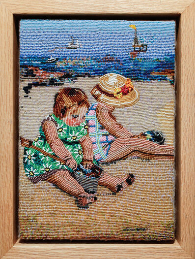 Corey Stein, '2 Girls Playing On The Beach With Tar', 2008