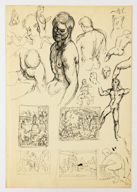 John S Barrington, 'Many Figure Studies and Studies for Compositions with Groups', 1921-1991