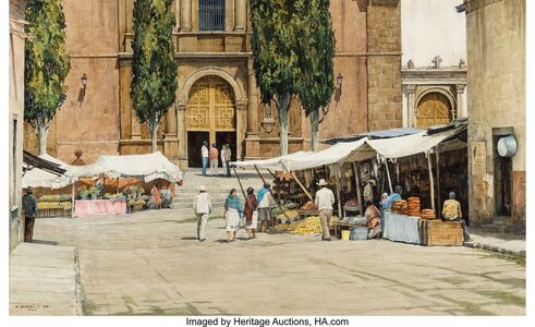 Morris Rippel, 'Market San Miguel', 1981