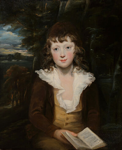 Sir William Beechey, 'Portrait of a young boy holding a book'