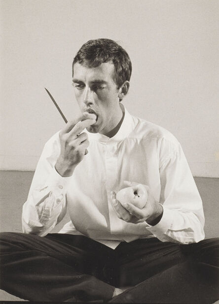 Peter Hujar, 'Forbidden Fruit' (David Wojnarowicz Eating an Apple in an Issey Miyake shirt) from The Twelve Perfect Christmas Gifts from Dianne B.', 1983