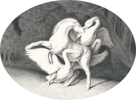 Sam Branton, 'Horse with Two Swans', 2017