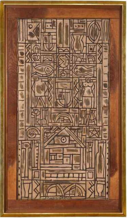 Joaquín Torres-García, 'Composition symétrique universelle en blanc et noir', 1931