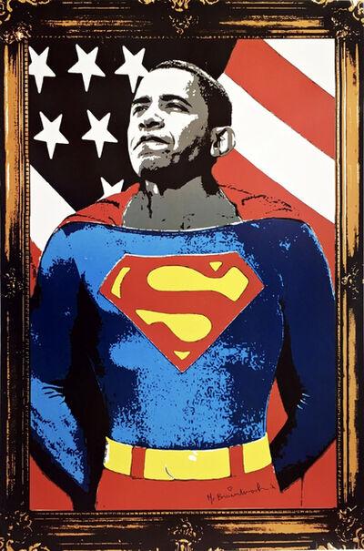 Mr. Brainwash, 'Obama Superman, Signed', 2008