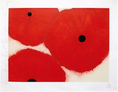 Donald Sultan, 'Four Reds, Sept 30', 2002
