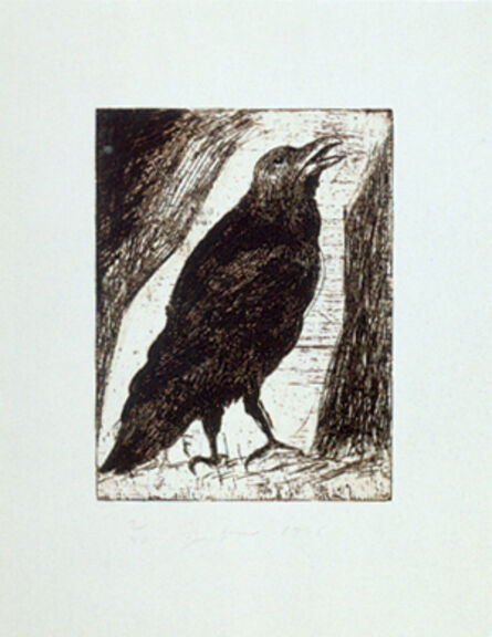 Jim Dine, '9 Studies for Winter Dream (Crow)', 1994
