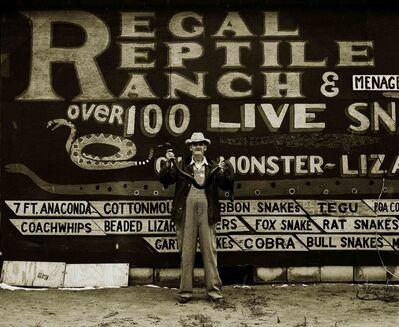 Steve Fitch, 'Snakepit Operator, Highway 66, Sayre, Oklahoma', 1972