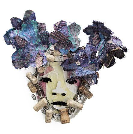 Marita Dingus, 'GLASS FACE, BLUE FLOWERS', 2014