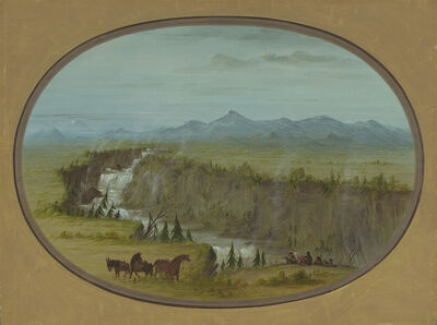 George Catlin, 'Falls of the Snake River', 1855/1869