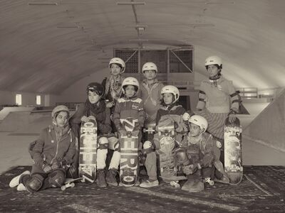 Simon Norfolk, 'Young Women In The Indoor Skatepark Of The NGO 'Skateistan' Set Up By American Volunteers', 2010