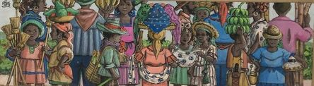 Alix Roy, 'Busy Children Marketplace', ca. 2000