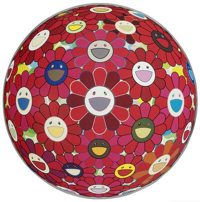 Takashi Murakami, 'Flower Ball (3D) Red Cliff', 2008