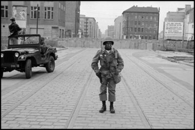 Leonard Freed, 'American Soldiers Stand Guard as the Berlin Wall is Put Up', 1961