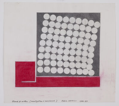 Paul Neagu, 'Blood & Water New Hyphen + Unnamed', 1989-1993