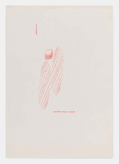 Dom Sylvester Houédard, 'sacred season cycle 200469', 1969