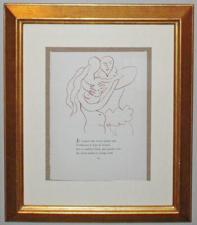 Henri Matisse, 'Florilege des Amours de Ronsard, Plate XXII', 1948