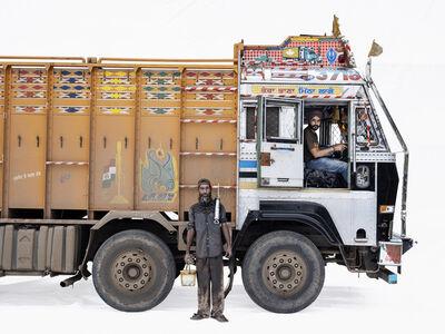 Martin Roemers, 'Ashok Leyland 3718; Truck driver Jasprit Singh, mechanic Salim Shah', 2019