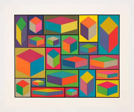 Sol LeWitt, 'Distorted Cubes (E)', 2001