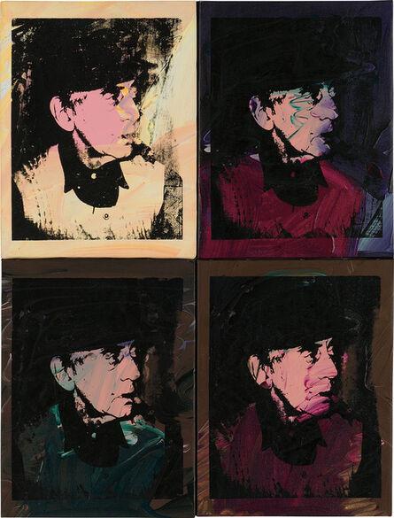 Andy Warhol, 'Four works: (i-iv) Man Ray', 1974