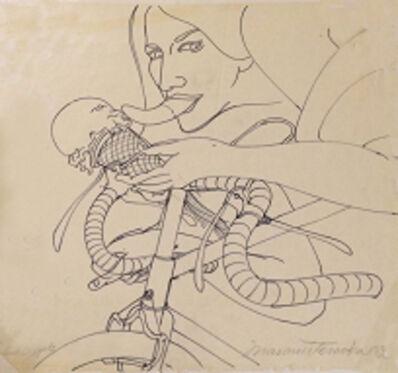 Masami Teraoka, 'Study for Woman on Bicycle/Susan', 1974