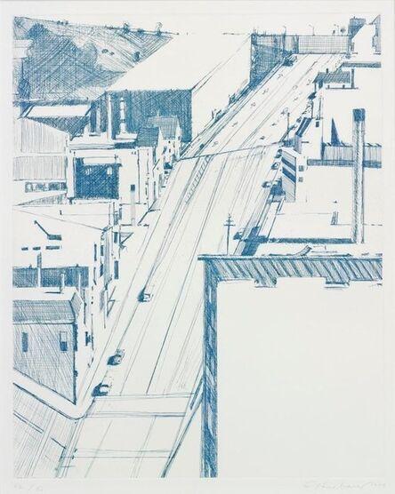 Wayne Thiebaud, 'Down 18th', 1979