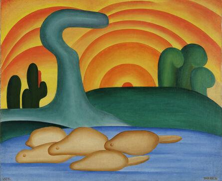Tarsila do Amaral, 'Setting Sun (Sol poente)', 1929