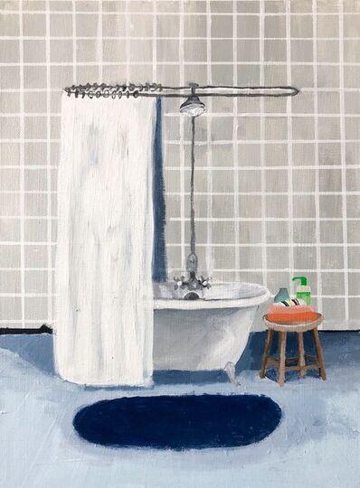Polly Shindler, 'Gray Tile Bathroom ', 2020