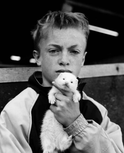 Chris Steele Perkins, 'Boy with ferret, County Durham', 2002