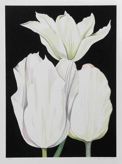 Lowell Nesbitt, 'Three Tulips on Black', 1980