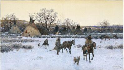Henry F. Farny, 'Breaking Camp', 1891