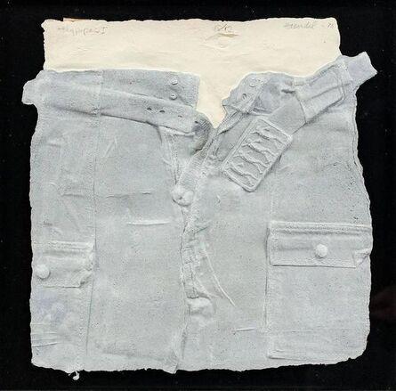 William Haendel, 'Bill Haendel Cast Paper Relief Sculpture Blue jeans 1975', 1970-1979
