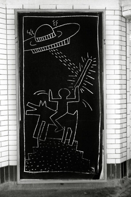 Fernando Natalici, 'Keith Haring Subway Art photo c.1981 ', 1981