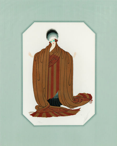 Erté (Romain de Tirtoff), 'Two Costume Designs: Gaby Desley and King's Favorite', 1979-80