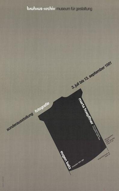 Nicolaus Ott, 'Marta Hoepffner - Eugen Batz Exhibition', 1981