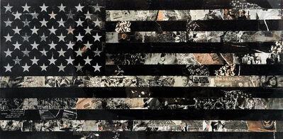 Cey Adams, 'American Flag (Black) ', 2021