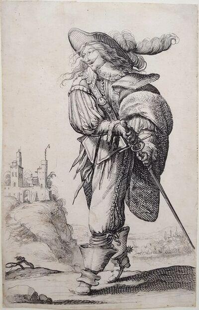 Abraham Bosse, 'Un homme se dirigeant a droite monte un degre', 1629