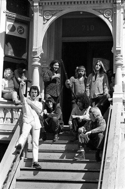 "Baron Wolman, '""Dead on the Steps"", The Grateful Dead', 1967"