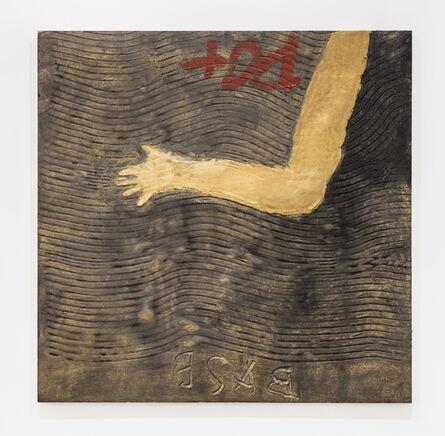 Antoni Tàpies, 'Ondulacions i braç', 2009