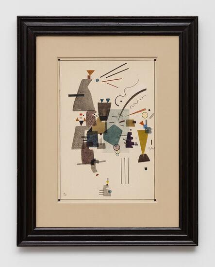 """Wassily Kandinsky, 'Gewärmtes Kühl (Warmed cool, also known as """"Fraîcheur Chaleureuse"""", """"Froid chauffé"""", """"Kaltes aufgewärmt"""")', November 1924"""