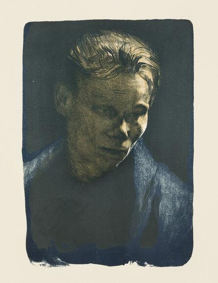 Käthe Kollwitz, 'Working Woman with Blue Shawl', 1903