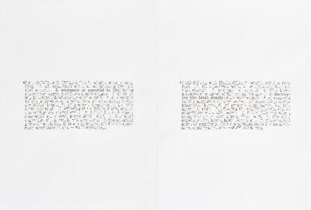 Bethany Collins, 'Vital, 1968', 2015