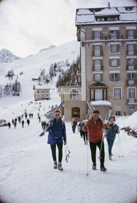 Slim Aarons, 'Skiers In St. Moritz', 1963