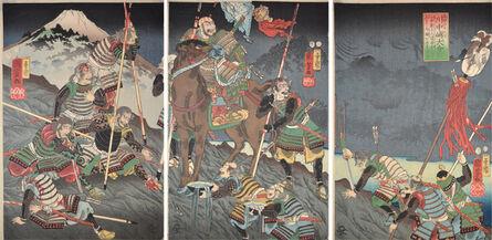 Utagawa Kuniyoshi, 'The Great Battle of Kawanakajima', 1854