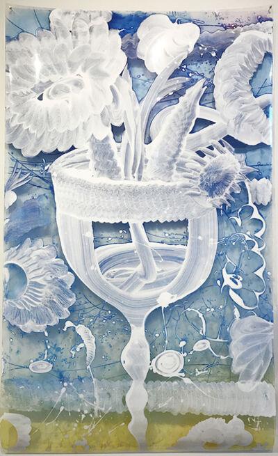 Catherine Howe, 'Reverse Mylar Painting (Ultra Blue Chalice)', 2016