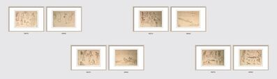 """Indra Dugar, 'Untitled, Ink on Paper (Recto-Verso), Set of Four by Modern Indian Artist """"In Stock""""', 1963-1964"""